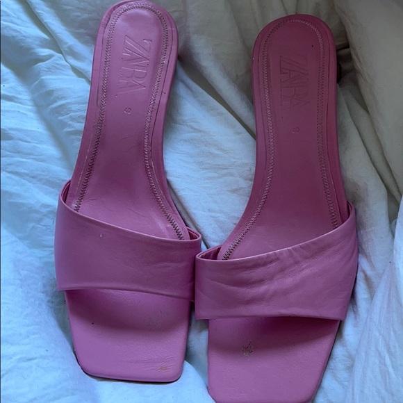 Pink Zara kitten heel Sandals